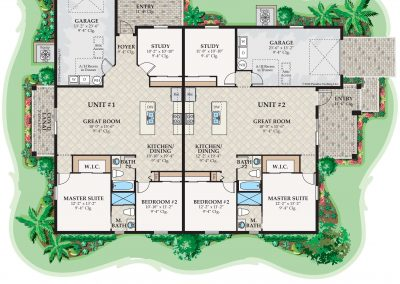 Chardonnay Duplex Floor Plan Florida